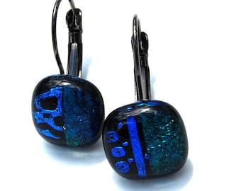 Dichroic Glass - Fusing - unique handmade earrings