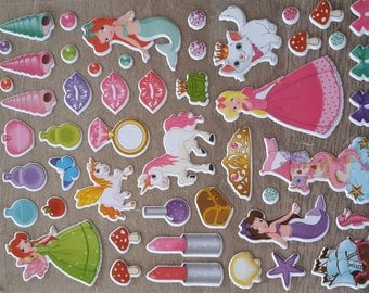 Stickers stickers princesses theme