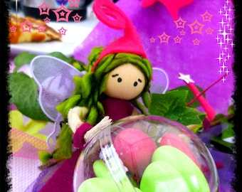 Fairy for christening / birthday / wedding fairy creation with its little fairy door sweets