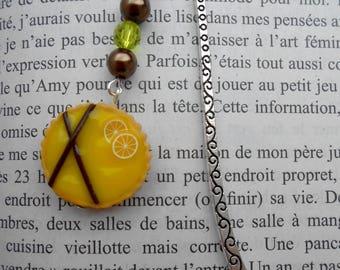 Lemon pie bookmark