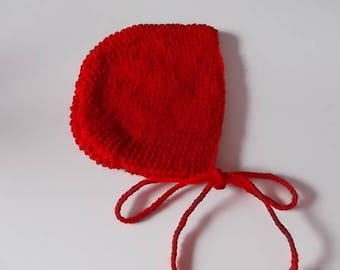 Handmade knit baby bonnet Hat
