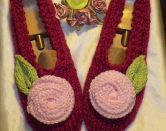 Slippers adult woman 38/40, topped with a flower