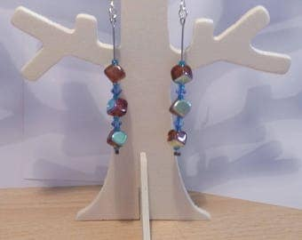 Earrings - amber and Turquoise
