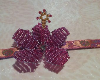 Bracelet - Hibiscus red / Orange