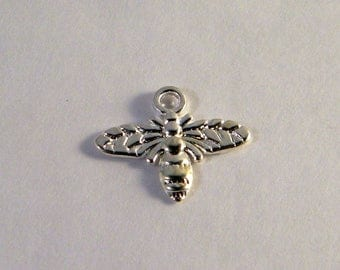 10 14 mm silver bee charm