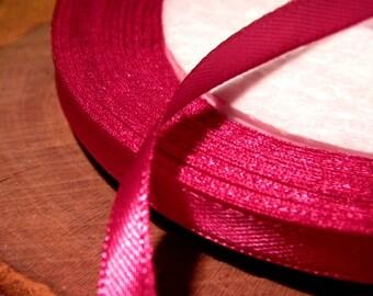 22 M reel - fuchsia SA15 bright 6 mm satin ribbon
