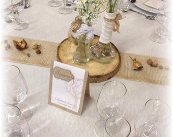 10 brand table trivets kraft and rope nature burlap rustic wedding