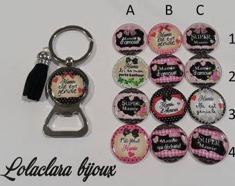 "key ring bottle opener ""Grandma she is awesome"" by lolaclarabijoux"