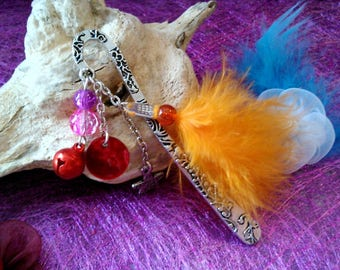 Bookmark Pearl and feather