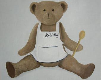CANVAS Teddy bear children's bedroom - Ref. Head