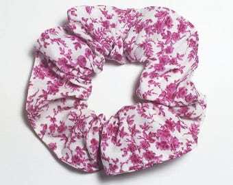 Darling Girl cotton floral fuchsia and white