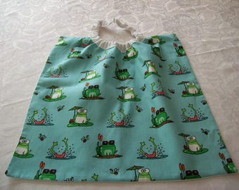 elastic cotton printed with frogs; special canteen towel canteen and kindergarten