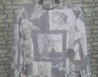 Marilyn monroe allover print sweatshirt