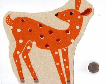 Applied Image for sewing or craft collection Fawn animal forest 20 x 19 cm