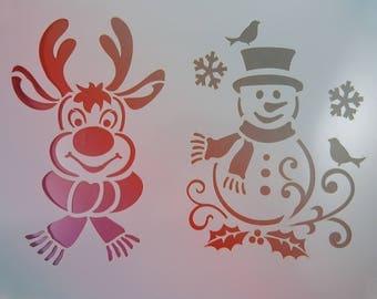 """Stencil flexible """"Noel"""" stencil plastic"""