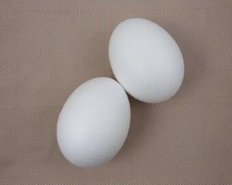 Blank polystyrene egg