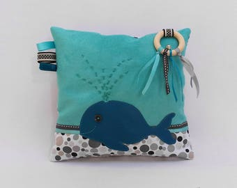 """Whale"" tactile cushion - Visual and sensory discovery."
