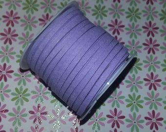 1 meter of n52 3x1.5mm Lavender suede cord