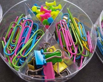 Office Accessories box of 100 pieces, accessories back to school office supplies, trombone, bugs