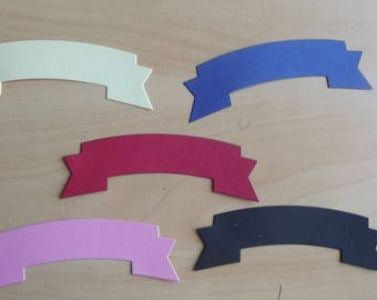 5 cuts tags for your scrapbooking creations.