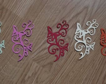 5 cuts arabesque butterflies for your scrapbooking creations.