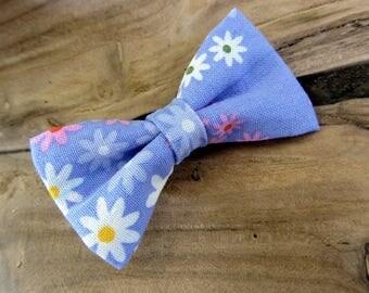 Hair clip flower blue bow