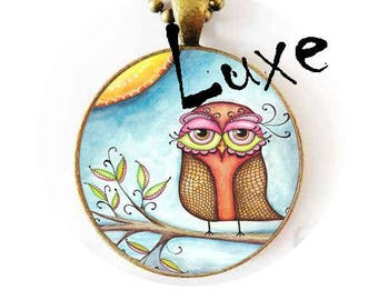 glass 20mm Cabochons craft crazy OWL 4