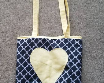 Homemade Canvas Shoulder Bag by BlessedBeofCreations