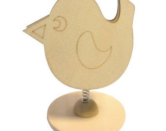 SUPPORT DECORATION BIRD PHOTO CLIP OR WEAR FIVE NOTES