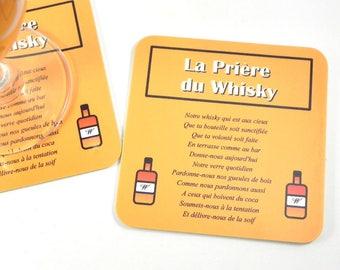 Gift man coaster coaster coaster prayer whiskey liquor
