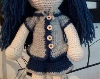 100% cotton doll for children from 4 years
