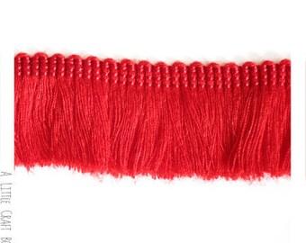 40cm of 25mm - red fringe trim