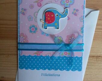 Newborn, boy or girl congratulations card