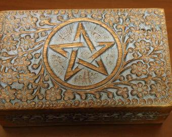 Pentacle Box, Tarot Box, Altar Box, Wiccan Box, Pagan Box,
