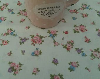 Floral fabric / patterns liberty pink, blue and purple / 50 X 50 cm