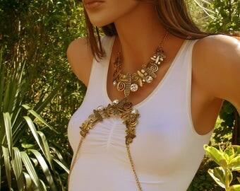 Body style bib Oclia Body chain jewelry