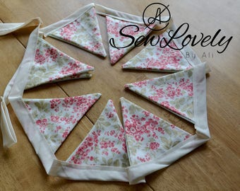 Floral Bunting/Shabby Chic Bunting/Decorative Wall Banner