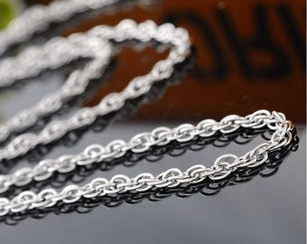 Stainless steel mesh chain beautiful jewelry accessory 51cm