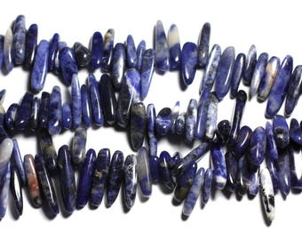 Stone - Sodalite 14-25mm 4558550035646 long seed beads 10pc bag-