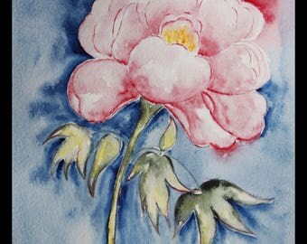 pretty creabijoux - summer 2014 illustration original watercolor on paper arches Peony collection!
