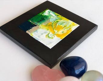 Shungite picture on a tile, abstract fine art,Shungite tile,EMF protection,Shungite miracle,Healing stone,Magic stone, healing gift