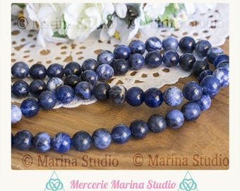 Sodalite natural top quality - semi precious beads 8mm 10 beads