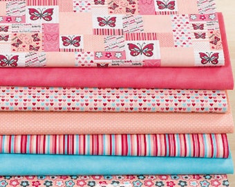 """Set of 7 fabric patchwork 50 x 30 cm """"Candy"""""""