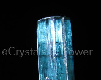One Blue Green Tourmaline Crystal! From Brazil! Genune All Natural! Most Are Terminated with Rainbows!