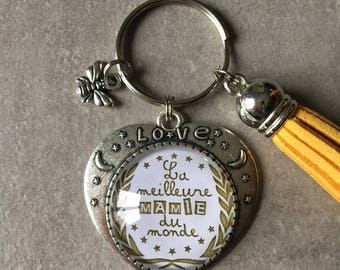 Grandma - Key heart 25mm glass cabochon