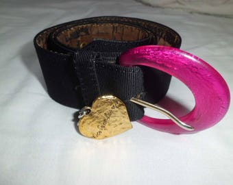belt Yves saint laurent vintage black woman