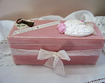 Shabby chic - romantic Style jewelry box wood box