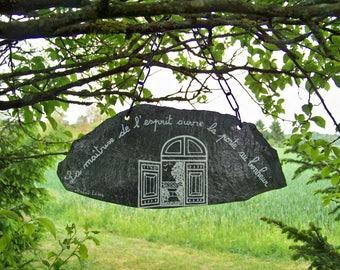 Slate-home garden-Zen wall atmosphere