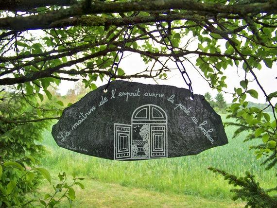 Ardoise d coration de jardin d coration murale ambiance zen for Ardoise decorative jardin