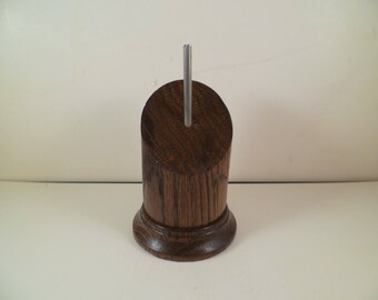 Stand for figurines busts round wooden Pan cut srpc2